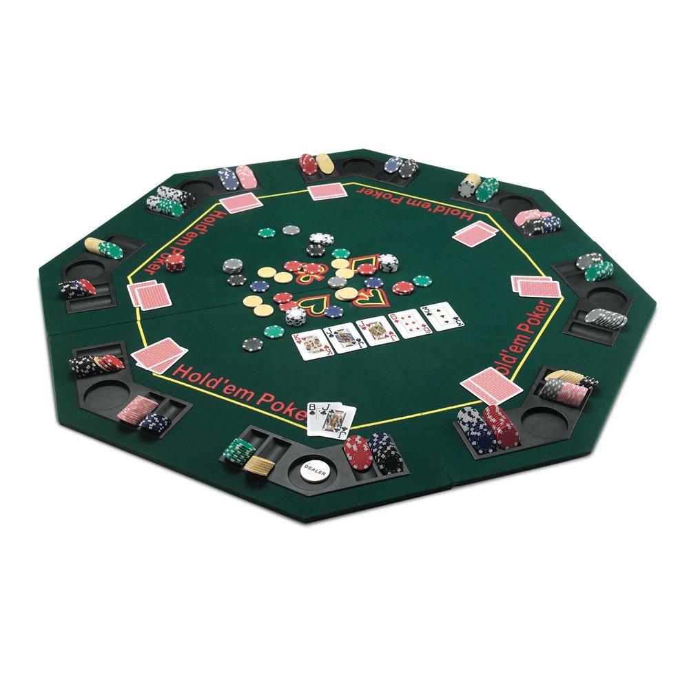 Juego JU00319 De Luxe Pokertisch klappbar für Pokerspiele - Grün