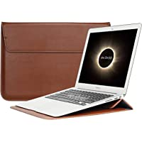 "Apple Apple Macbook 13"" 13.3 inç Vegan Deri Kese Kılıf Laptop Çanta Sleevebag, Stand"