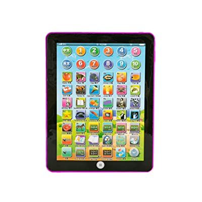 NUOBESTY Kids Educational Tablet Computer Learning Educational Teach Toy for Kids Children (Pink): Health & Personal Care