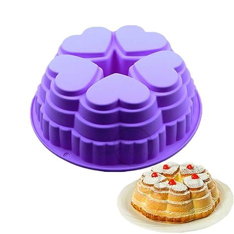 FantasyDay Premium Antiadherente Moldes para Tartas, Moldes de Silicona para Caramelos, Chocolate, Hornear