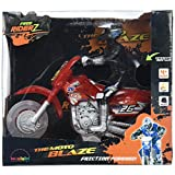 MukikiM Free Riderz Moto Blaze - A Modern Take On A Classic Toy! Friction Powered-Rev It Up And Let It Go! Features Unique Lights, Sounds, and Music Too!