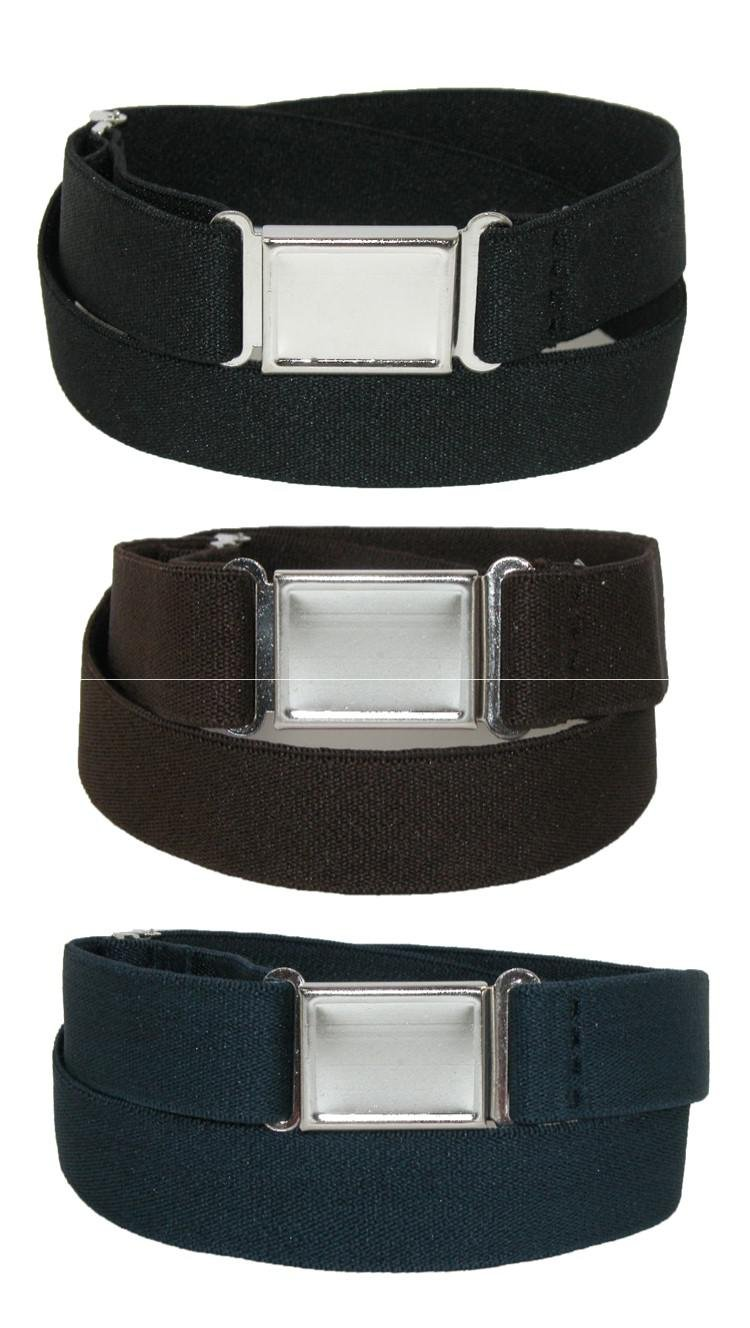 CTM® Kids' Elastic Stretch Belt with Magnetic Buckle (Pack of 3 Colors) SF-PCMAGNKIT2-BNP