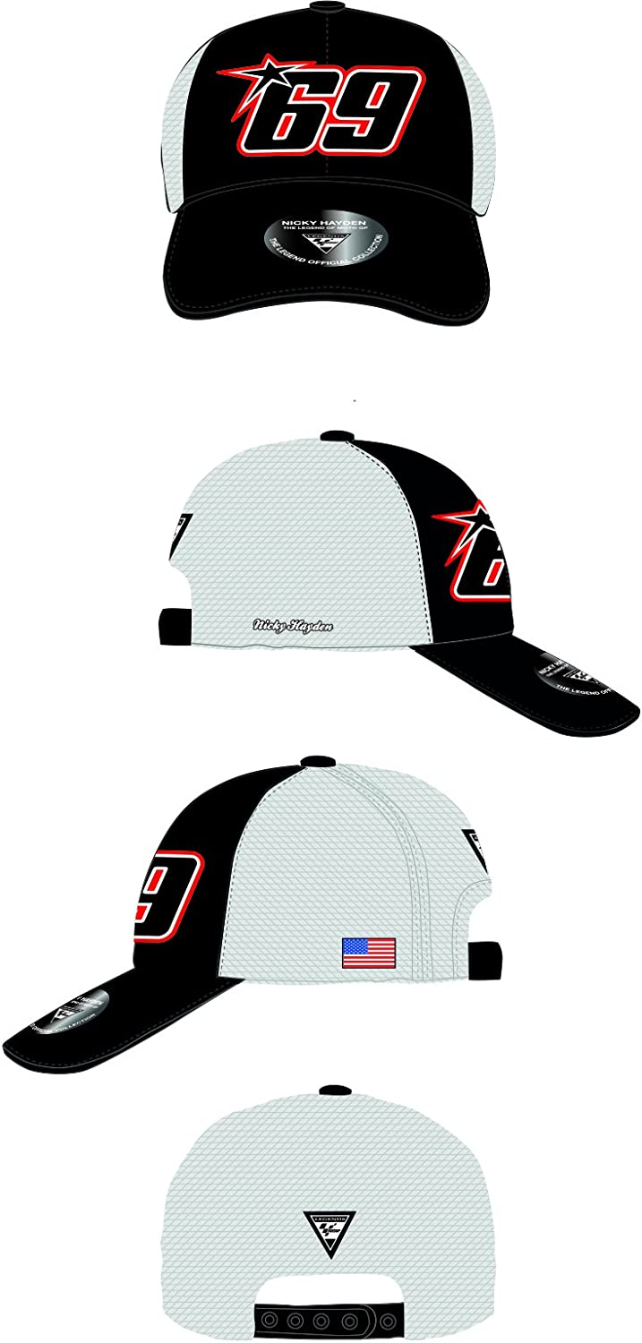 MotoGP Apparel - Gorra Trucker 69, color blanco, talla única ...