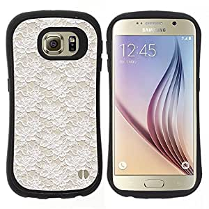 "Hypernova Slim Fit Dual Barniz Protector Caso Case Funda Para Samsung Galaxy S6 [Vintage Vignette Wallpaper Beige""]"