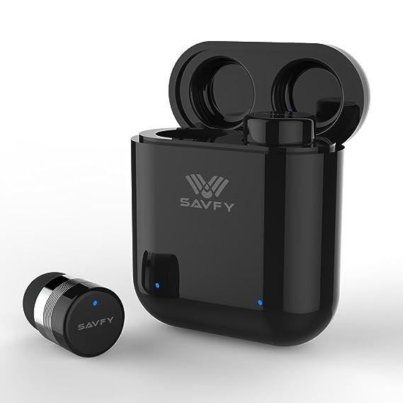 0244657d5c6 Bluetooth Headphones, SAVFY Mini True Wireless Bluetooth Earbuds Pair,  Noise Cancelling Sweatproof Headset with