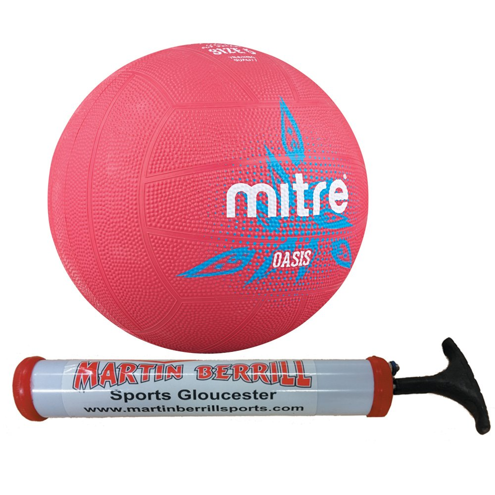2016 Mitre Oasis Netball with Free Hand Pump
