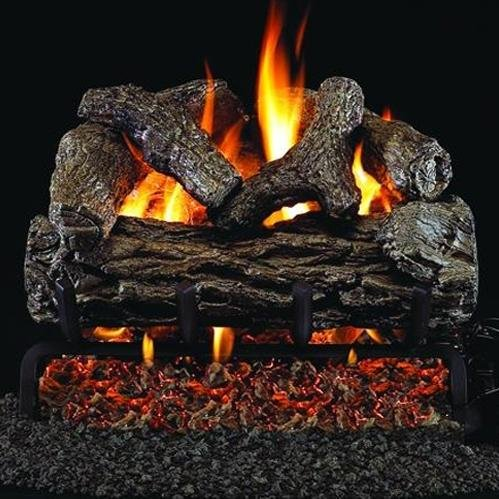 Peterson Real Fyre 16-inch Golden Oak Log Set With Vented Natural Gas G4 Burner - Match Light
