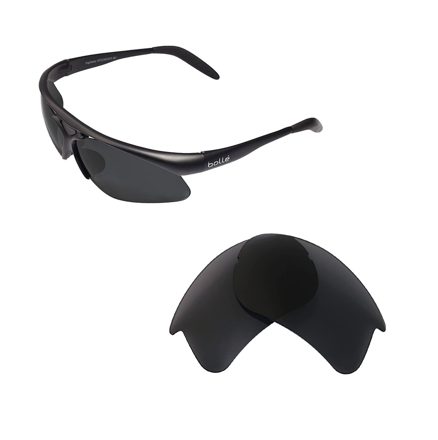 Walleva Replacement Lenses for Bolle Vigilante Sunglasses - Multiple Options Available