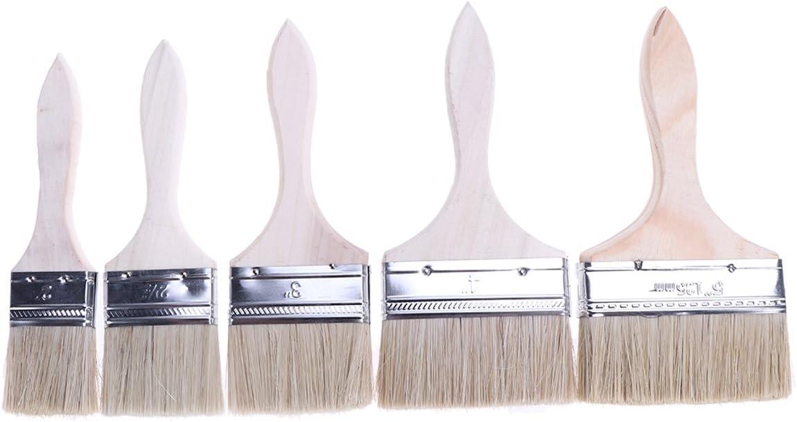 Yardwe 5 en 1 juego de brochas de pintura para adhesivos, retoques de pintura, pintor, suministros