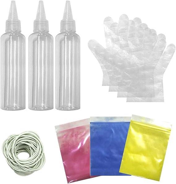 BHAIR5 Tie-Dye Kit de pinturas textiles de tela vibrante, uso ...