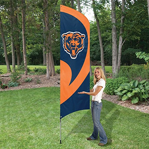 Party Animal Bears Tall Team Flag with Pole TTCH by The Party Animal