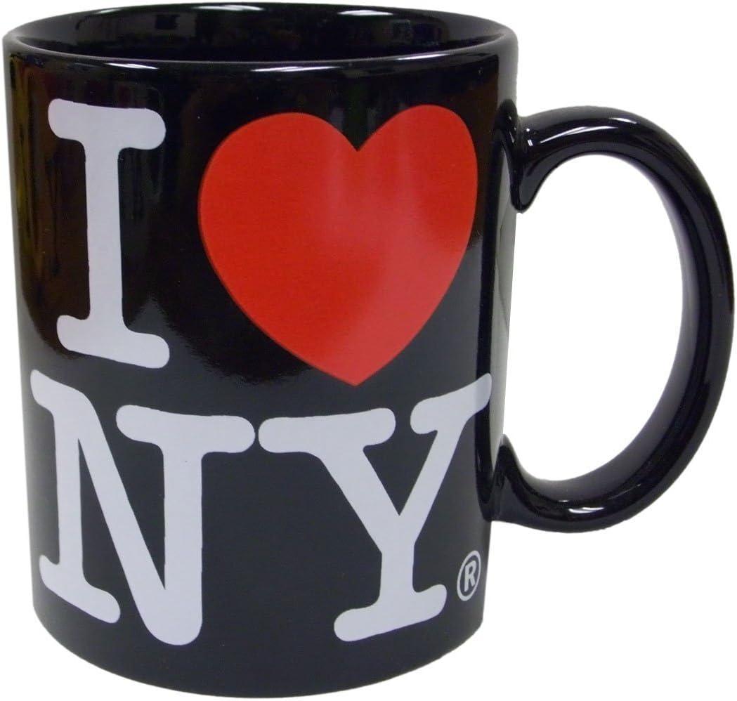 I Love NY Black 11 oz Coffee Mug, Microwave and Dishwasher Safe