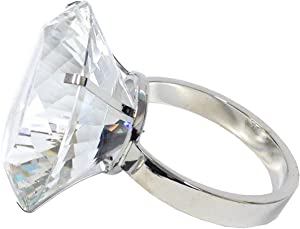 Amlong Crystal Large 3 inch Diameter Crystal Diamond Ring Paperweight