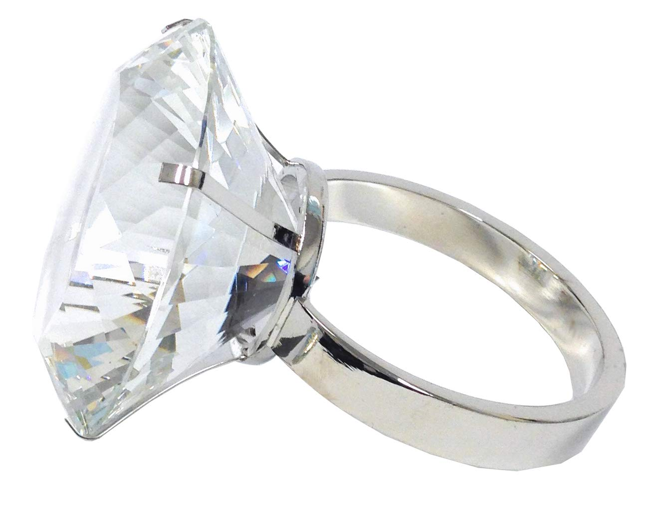 Amlong Crystal Large 3 inch Diameter Crystal Diamond Ring Paperweight by Amlong Crystal