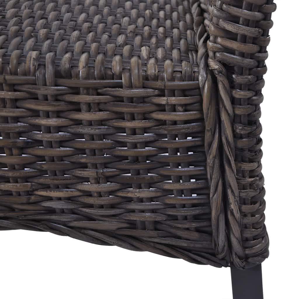 vidaXL 2X Chaise de Salle /à Manger Rotin Kubu Bois de Manguier D/îner Cuisine