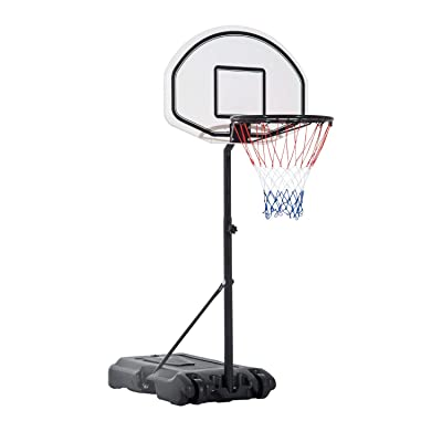 Gecheer Mini Hoop Basketball System Indoor Kids Basketball Hoop Portable Basketball Hoop with Height-Adjustable Pole: Home & Kitchen