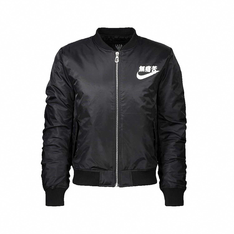 The anarchy black ma 1 bomber jacket