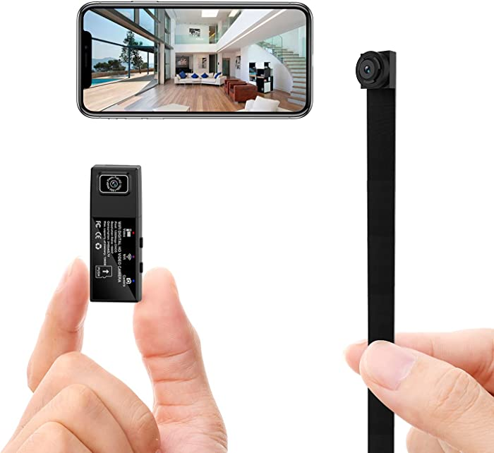Mini Spy Hidden Camera Wireless WiFi Small Nanny Cam Home Security Surveillance Camera for Home Office Video Recorder with 2 Lens 1080p APP Remote View Night Vision Motion Detection