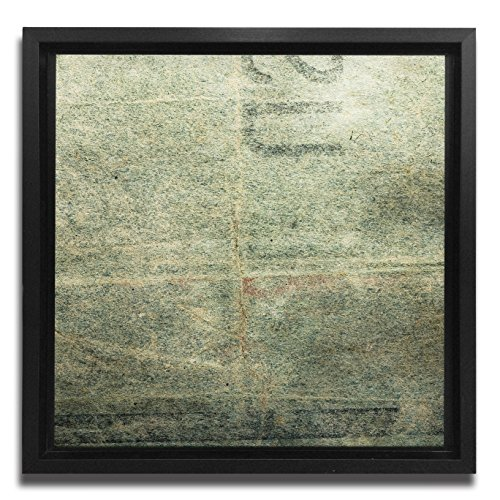 JP London Ready to Hang Made in North America Framed 1.5in Thick Gallery Wrap Canvas Wall Concrete Art Grunge Graffiti Stamp 18in SQSFCNV2268