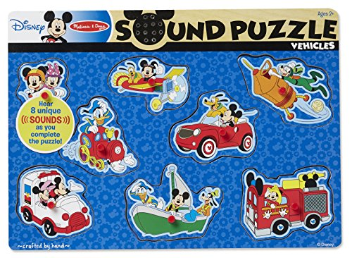 Disney Mickey Mouse Puzzle (Melissa & Doug Disney Mickey Mouse and Friends Vehicles Sound Puzzle (8 pcs))