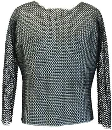 bf7d555a40a Armor Venue Knights Medieval Hauberk Full Sleeve Blackened Black One Size