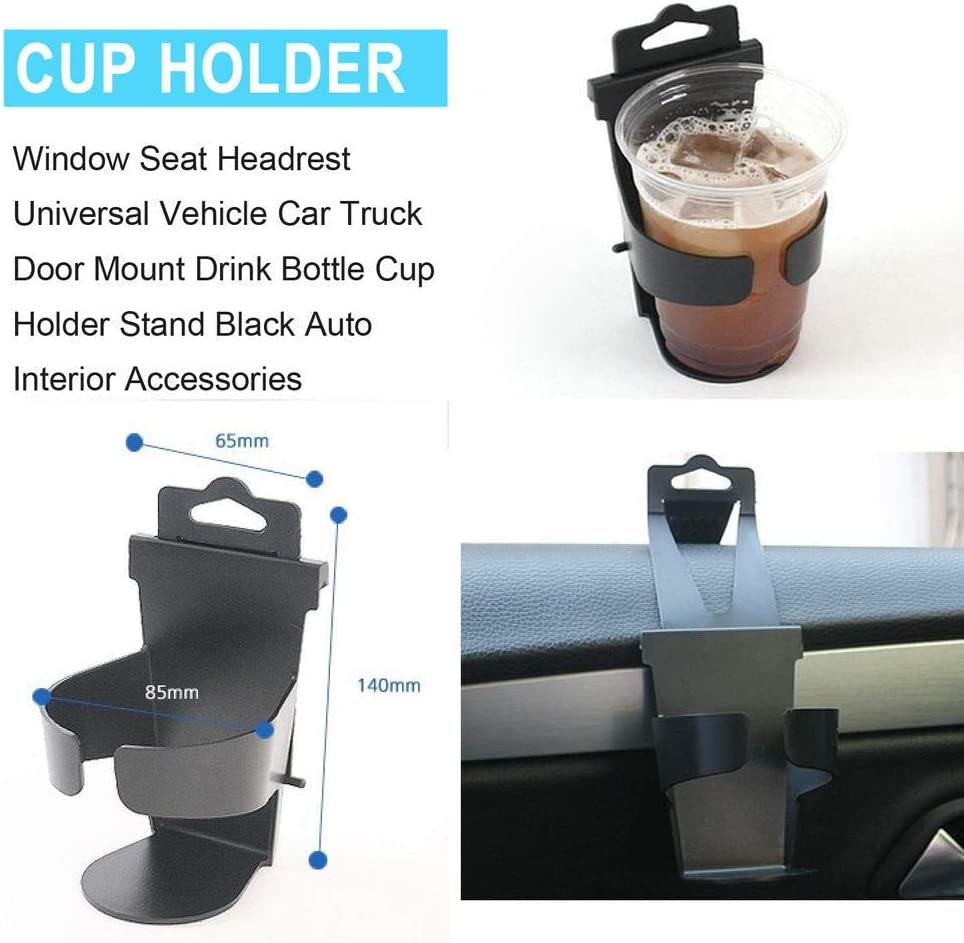 todaytop Universal Plastic Car Cup Holder for Water Cup Window Seat Headrest Universal Vehicle Car Truck Door Mount Drink Bottle Cup Holder Stand