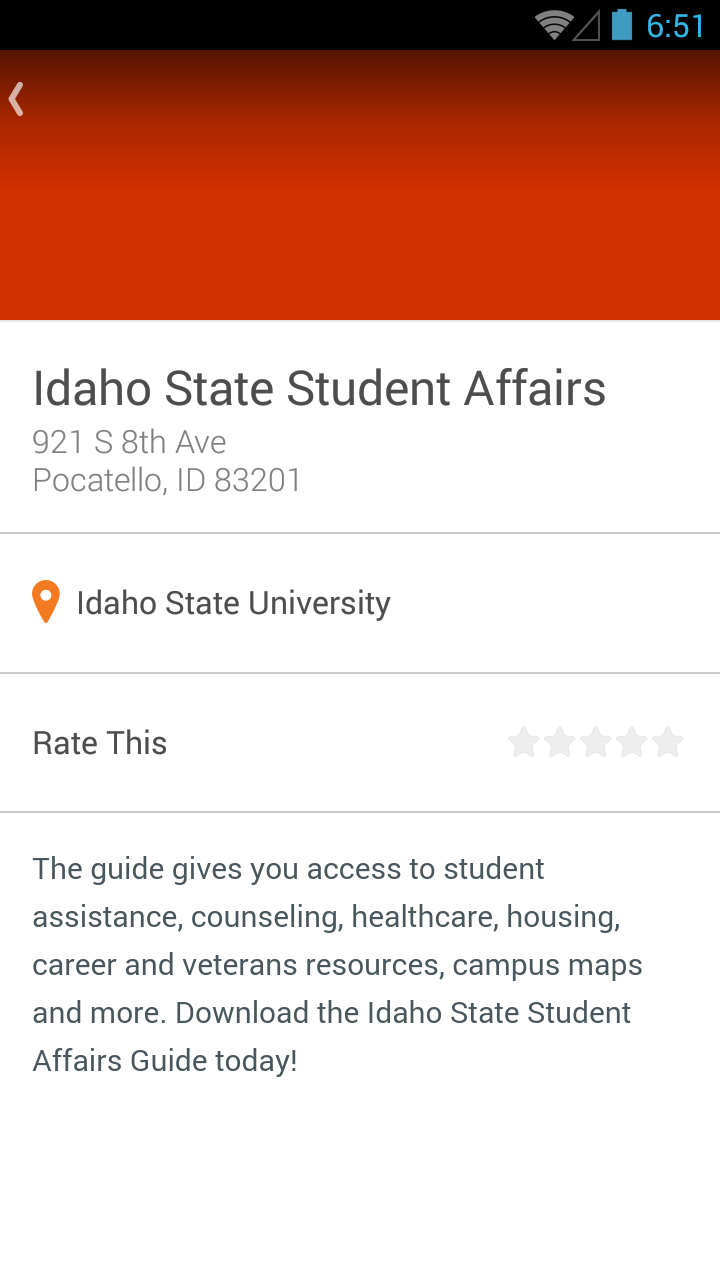 Idaho State Campus Map.Amazon Com Idaho State Student Affairs Appstore For Android