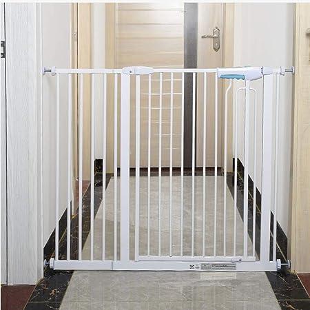 Presión de Interior Barrera de Seguridad Montado En Blanco Abierto Fácil de La Escalera Pasillo Puertas de Umbral (Color : Height 90cm, Size : 100-105cm): Amazon.es: Hogar