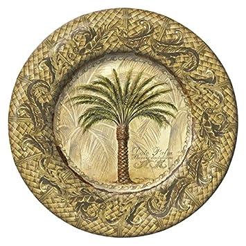 Merritt Majestic Palm Melamine Dishware Set Type Gold Border Plate 8u0026quot;  sc 1 st  Amazon.com & Amazon.com | Merritt Majestic Palm Melamine Dishware Set Type: Gold ...