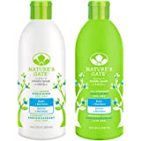 Nature's Gate All Natural Organic Strengthening Biotin Thickening Shampoo and Conditioner Bundle For Hair Loss or Thinning Hair With Jojoba, Borage, Panthenol & Nettle, Sulfate Free, 18 fl. oz. each