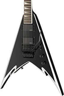 Jackson PDX-2 Demmelition King V Electric Guitar, Rosewood Fingerboard - Black with Silver
