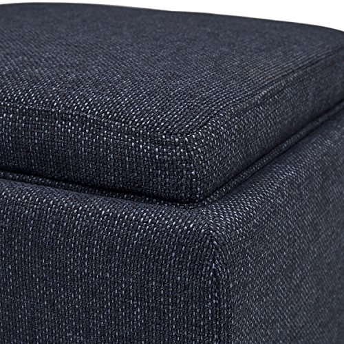 Fabulous Denim Rivet Ross Tweed Modern Lift Top Storage Ottoman 18W Alphanode Cool Chair Designs And Ideas Alphanodeonline