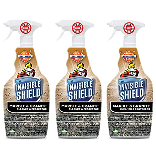 (Invisible Shield® Marble & Granite Cleaner & Protectant- 25 oz- 3 Pack by Clean-X® Invisible)