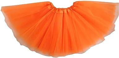 SODIAL Vestido de ballet moderno de hadas de falda naranja ...