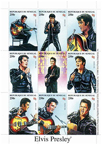 Elvis Presley stamps - Singing and playing the guitar - Mint and never mounted sheet with 1 stamp
