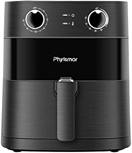 Air Fryer, 5.8QT Oven Cooker with Adjustable Temperature Control, 1700W Oilless Cooker with Timed Knob and Non-stick basket(Black)