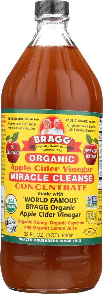 Bragg (NOT A CASE) Organic Apple Cider Vinegar Miracle Cleanse Concentrate