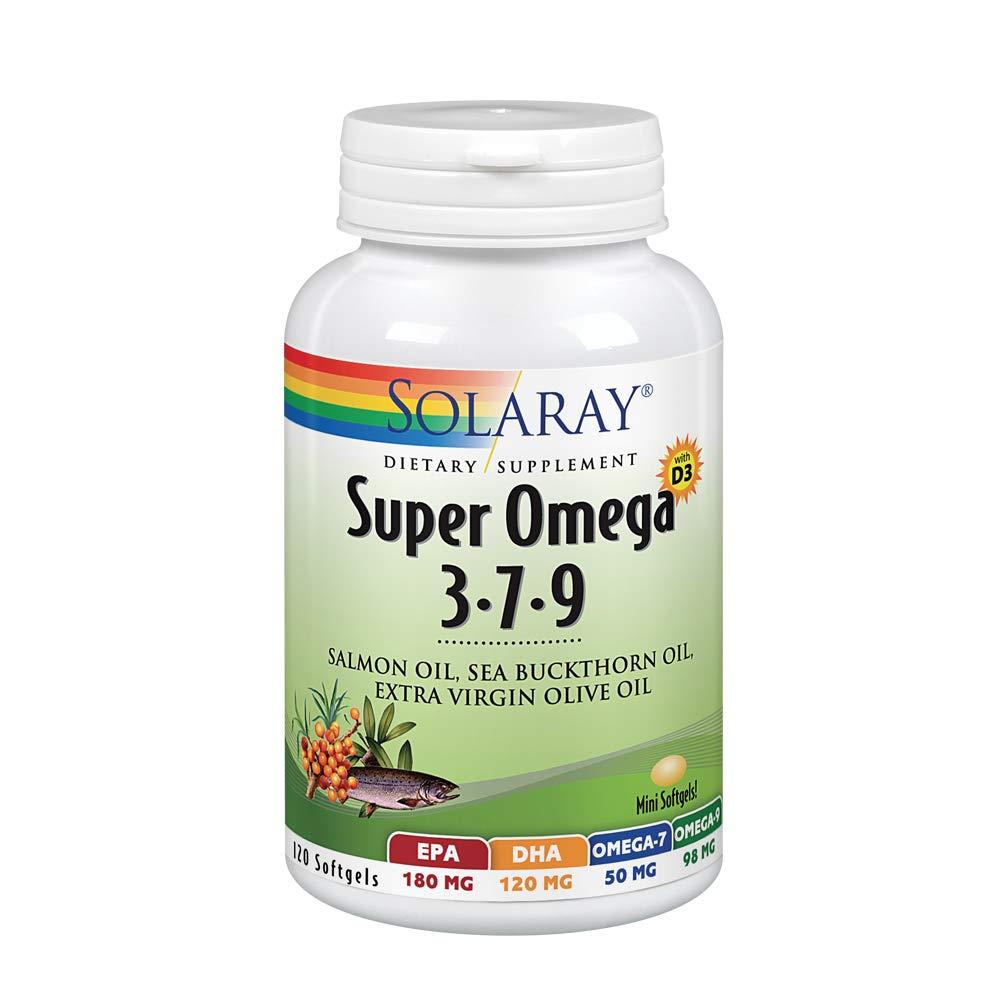 Solaray Super Omega 3-7-9 Softgels, 120 Count