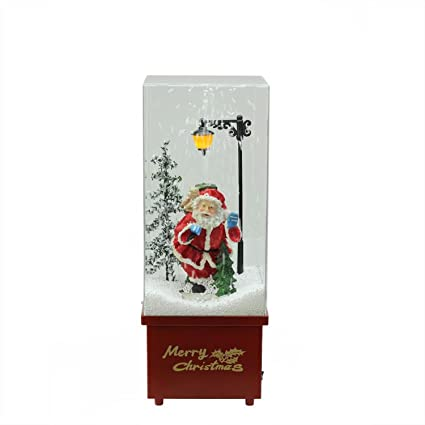 northlight 1625 lighted musical santa claus snowing christmas table top