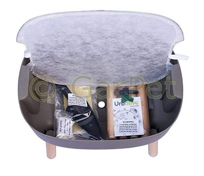 Compostador de gusanos Urbalive, cocina, apartamento, caja ...