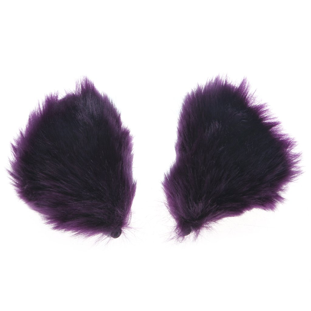 Orecchiette Party's Fur Ears Anime Neko Costume Hair Clip Cosplay Accessories (White&White) by MEXUD Cat Fox Fur Ears (Image #4)