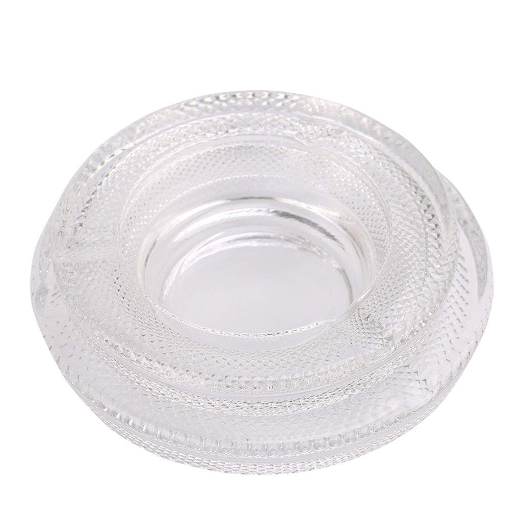 ZDD Crystal Glass Ashtray/Creative Personality Home Practical Ashtray/Decorative Ornaments Gift Transparent (Size Optional) (Size : B)