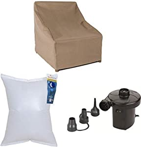 Duck Covers Essential Stackable Patio Chair Cover, 28-Inch with Duck Dome Airbag, 32