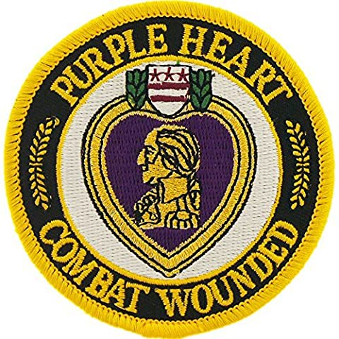 Purple Heart Combat Wounded Round Patch Military Gifts Patches for Jackets Hats Vests - Military Vet Patch
