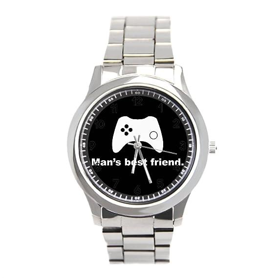 Ser un hombre hombre mejor amigo divertida Gamer relojes