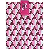 Roll'eat - Boc'n'Roll Tiles Bolsa Merienda Porta Bocadillos Ecológica y Reutilizable sin BPA, Rosa