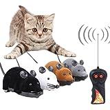 電動ネズミ 猫おもちゃ 猫遊び 運動不足解消 ストレス解消 ダイエット ネズミ型ラジコン リモコン付き 面白い 4色(カラーランダム出荷)