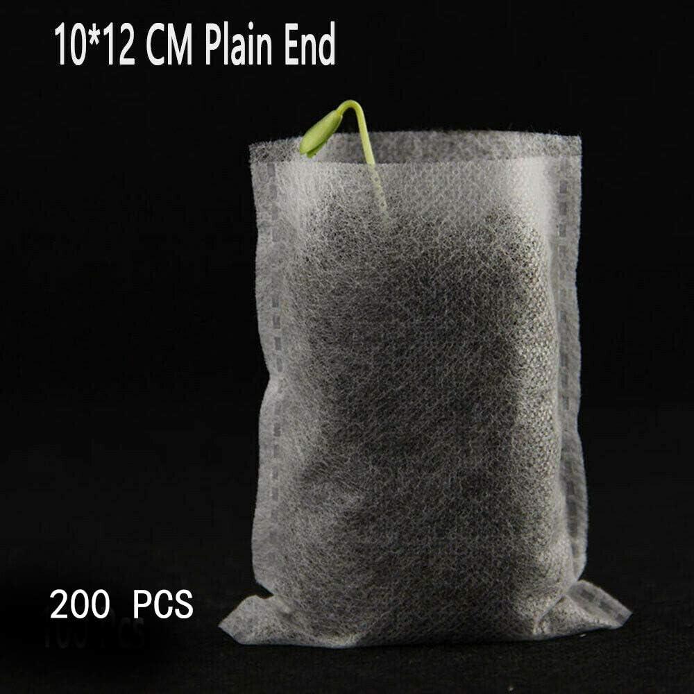 blanco bolsas de cr/ía para macetas Bolsas de cultivo no tejidas Senrise bolsas de plantas transpirables bolsas de cultivo de plantas biodegradables 200 unidades