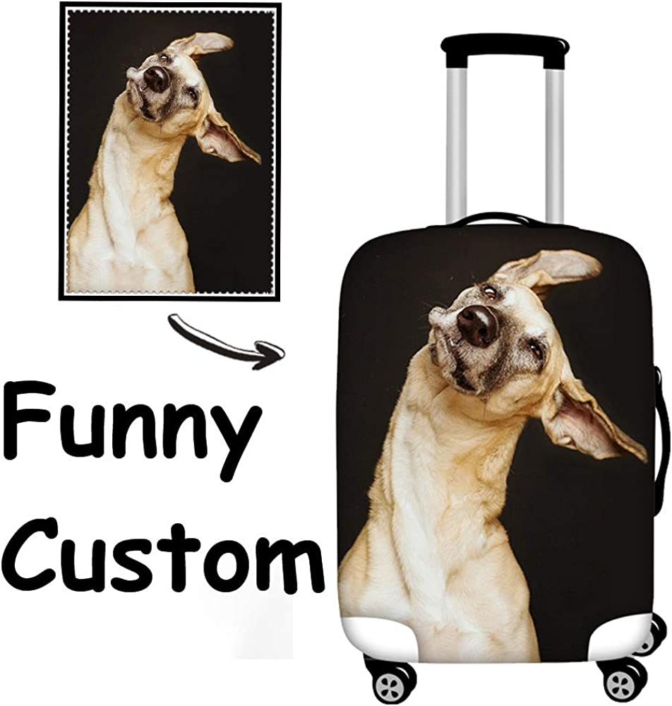 FOR U DESIGNS 18 20 24 28 Inch Fashion London Style Luggage Cover Elastic Suitcase Protective Cover