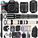 Holiday Saving Bundle for D7500 DSLR Camera + 650-1300mm Telephoto Lens + 55-200mm VR II Lens + AF-P 18-55mm + 500mm Telephoto Lens + 6PC Graduated Color Filter - International Version
